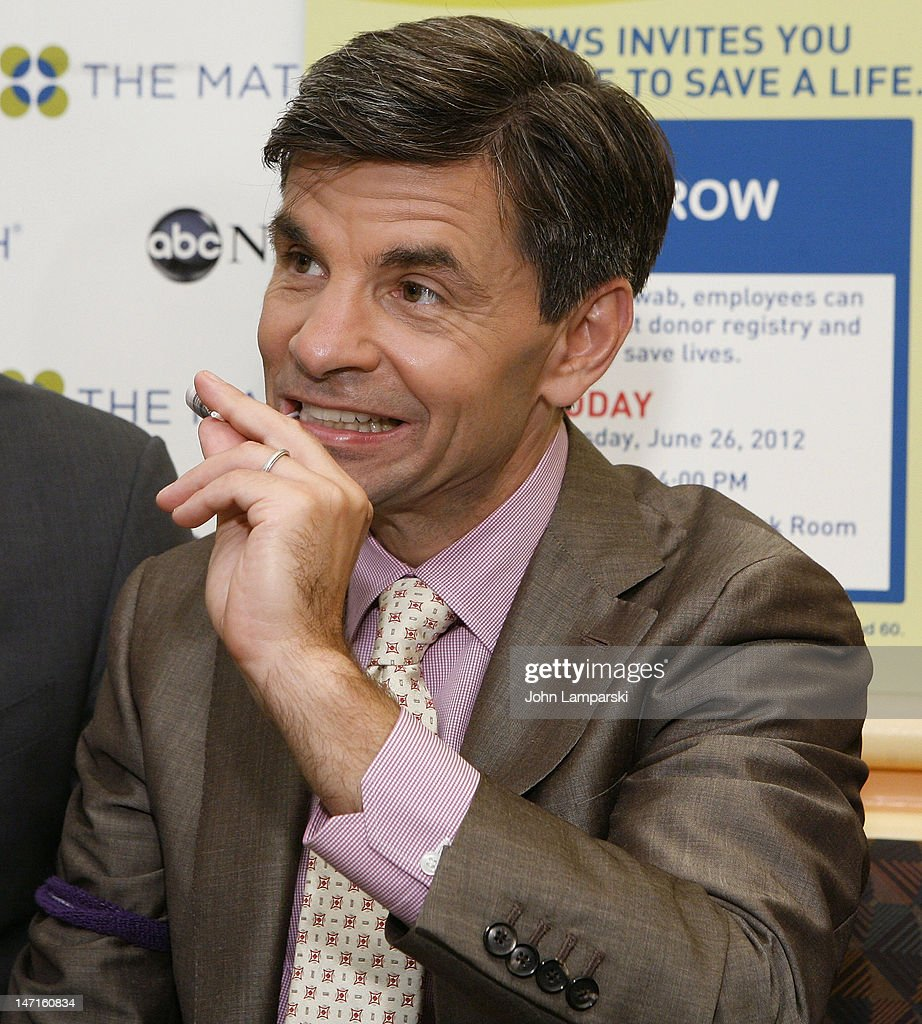 <a gi-track='captionPersonalityLinkClicked' href=/galleries/search?phrase=George+Stephanopoulos&family=editorial&specificpeople=206404 ng-click='$event.stopPropagation()'>George Stephanopoulos</a> attends the ABC News Bone Marrow Drive at ABC Studios on June 26, 2012 in New York City.