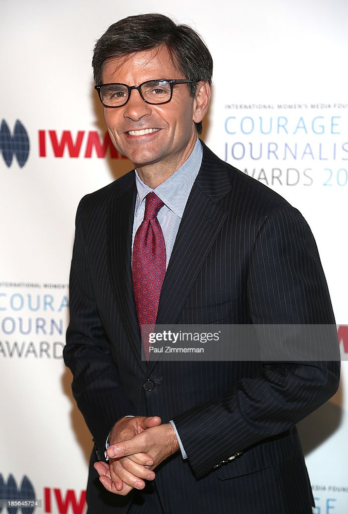 <a gi-track='captionPersonalityLinkClicked' href=/galleries/search?phrase=George+Stephanopoulos&family=editorial&specificpeople=206404 ng-click='$event.stopPropagation()'>George Stephanopoulos</a> attends the International Women's Media Foundation's 2013 Courage In Journalism awards at Cipriani 42nd Street on October 23, 2013 in New York City.