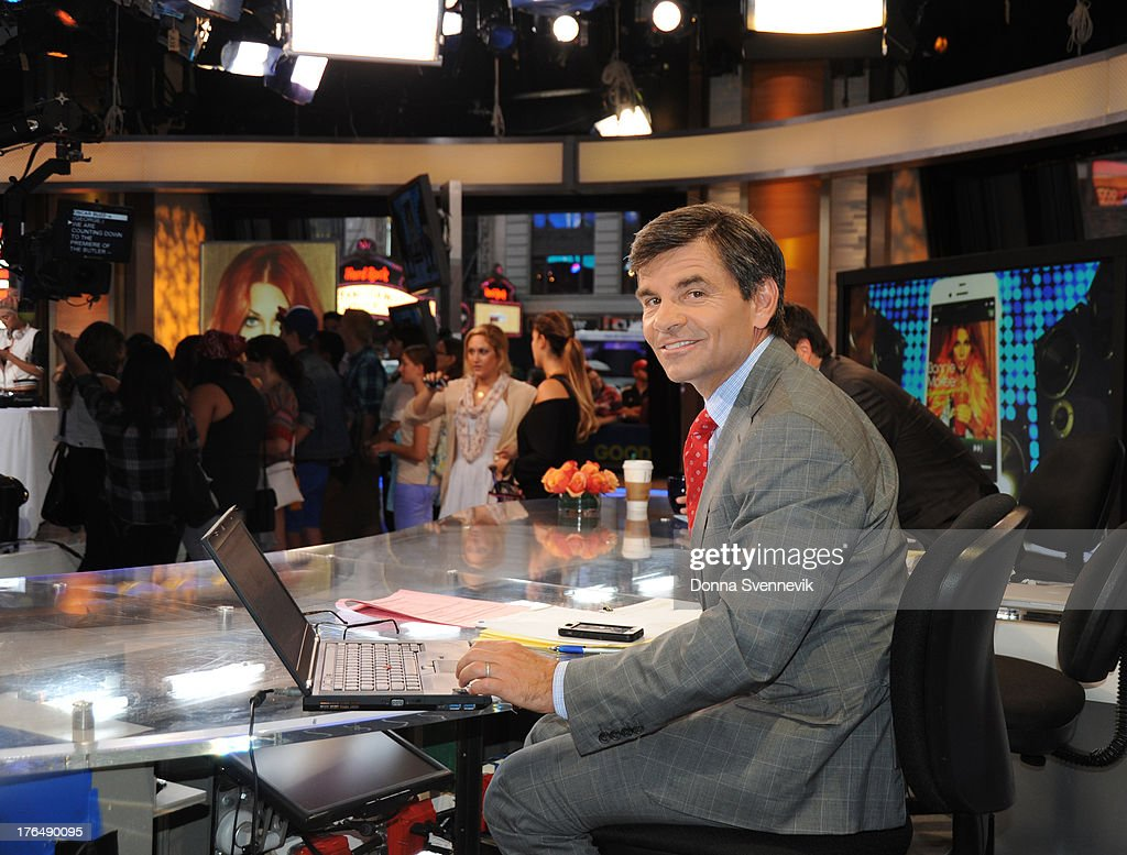 AMERICA - George Stephanopoulos co-anchors 'Good Morning America,' 8/13/13, airing on the ABC Television Network. GEORGE