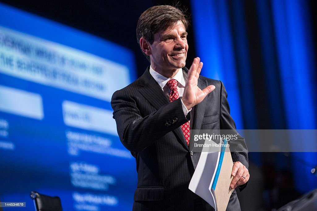 <a gi-track='captionPersonalityLinkClicked' href=/galleries/search?phrase=George+Stephanopoulos&family=editorial&specificpeople=206404 ng-click='$event.stopPropagation()'>George Stephanopoulos</a>, host of Good Morning America, walks on stage at the 2012 Fiscal Summit on May 15, 2012 in Washington, DC. The third annual summit, held by the Peter G. Peterson Foundation, explored the theme 'America's Case for Action.'