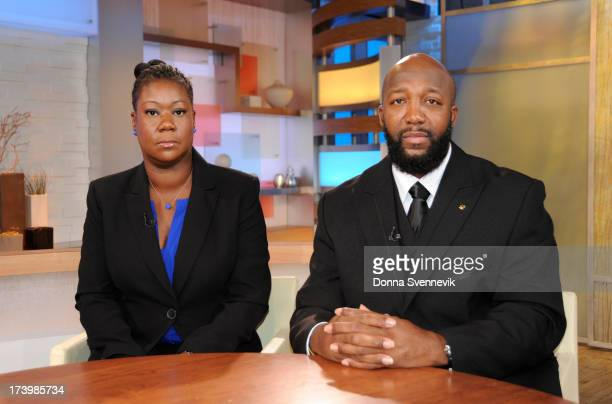 AMERICA George Stephanopoulos interviews the parents of Trayvon Martin on 'Good Morning America' 7/18/13 airing on the ABC Television Network GEORGE