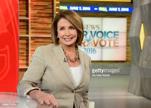 AMERICA George Stephanopoulos talks to Nancy Pelosi on GOOD MORNING AMERICA 6/7/16 airing on the ABC Television Network NANCY