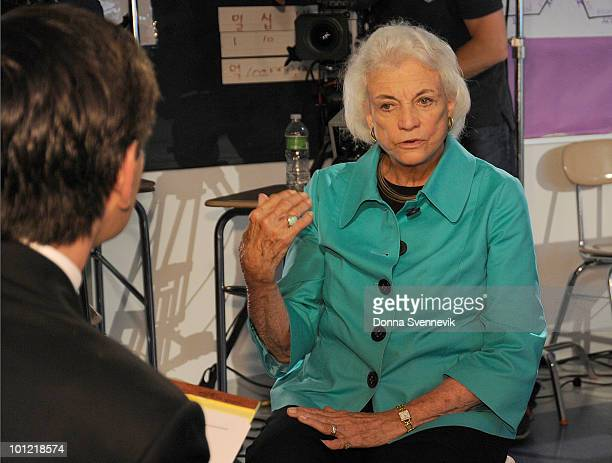 AMERICA George Stephanopulos spends an afternoon with Sandra Day O'Connor the first female member of the Supreme Court touring the Democracy Prep...
