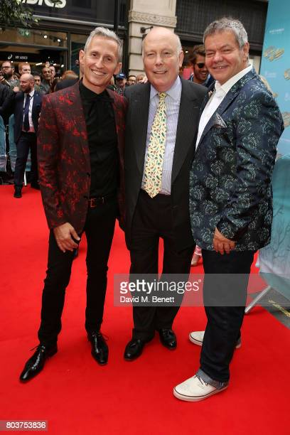 George Stiles Julian Fellows and Anthony Drewe attend the press night performance of 'The Wind In The Willows' at the London Palladium on June 29...