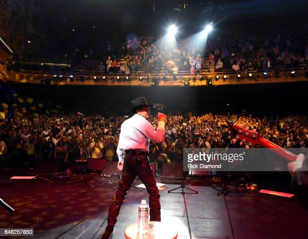 George Strait performs onstage during George Strait's Hand in Hand Texas benefit concert Strait and special guests Miranda Lambert Chris Stapleton...