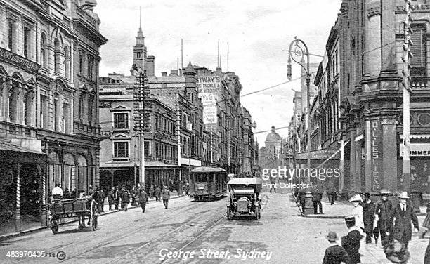George Street Sydney Australia c1900s Published by Valentine Sons