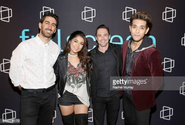 George Strompolos Founder CEO of Fullscreen Andrea Russett of 'Apologies in Advance with Andrea Russett' Scott Reich SVP Programing of Fullscreen and...