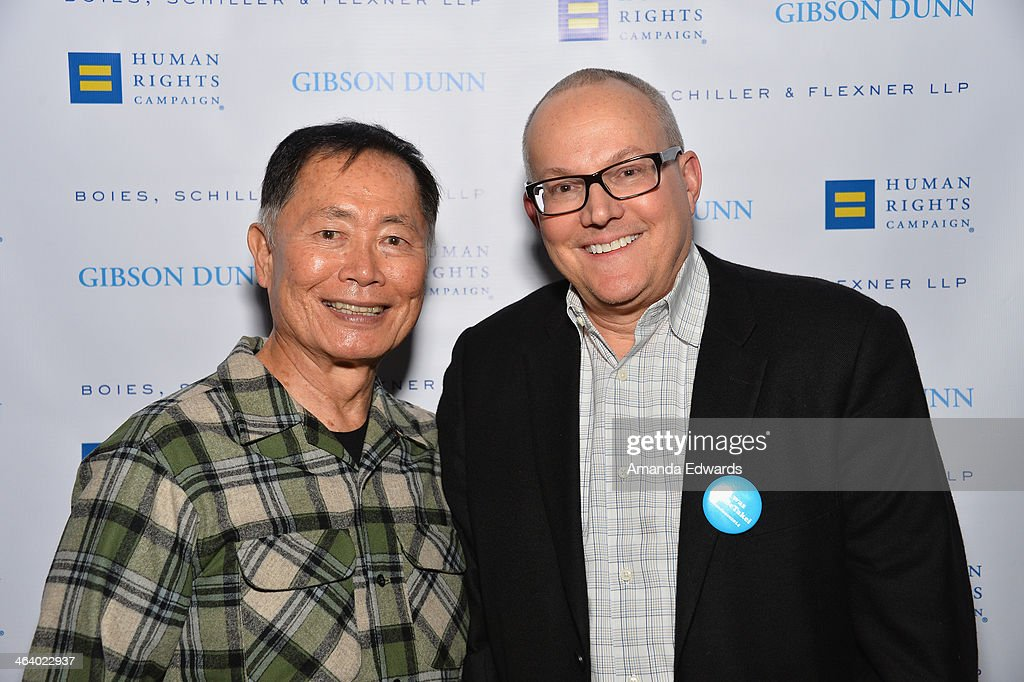<a gi-track='captionPersonalityLinkClicked' href=/galleries/search?phrase=George+Takei&family=editorial&specificpeople=1534988 ng-click='$event.stopPropagation()'>George Takei</a> and <a gi-track='captionPersonalityLinkClicked' href=/galleries/search?phrase=Brad+Takei&family=editorial&specificpeople=5403945 ng-click='$event.stopPropagation()'>Brad Takei</a> attend Equality Unscripted on January 19, 2014 in Park City, Utah.