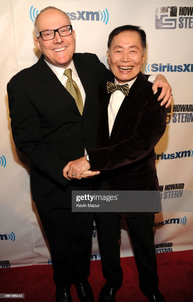 <a gi-track='captionPersonalityLinkClicked' href=/galleries/search?phrase=George+Takei&family=editorial&specificpeople=1534988 ng-click='$event.stopPropagation()'>George Takei</a> and <a gi-track='captionPersonalityLinkClicked' href=/galleries/search?phrase=Brad+Takei&family=editorial&specificpeople=5403945 ng-click='$event.stopPropagation()'>Brad Takei</a> attend 'Howard Stern's Birthday Bash' Presented By SiriusXM, Produced By Howard Stern Productions at Hammerstein Ballroom on January 31, 2014 in New York City.