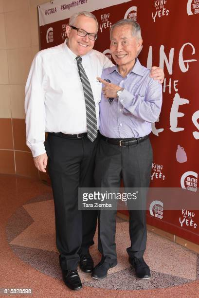 George Takei and Brad Takei attend opening night of 'King Of The Yees' at Kirk Douglas Theatre on July 16 2017 in Culver City California