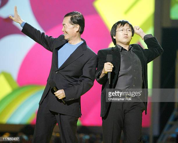 George Takei and Masi Oka presenters during VH1 Big in '06 Show at Sony Studios in Los Angeles California United States