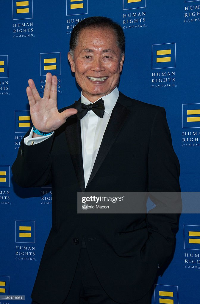 <a gi-track='captionPersonalityLinkClicked' href=/galleries/search?phrase=George+Takei&family=editorial&specificpeople=1534988 ng-click='$event.stopPropagation()'>George Takei</a> arrives at the Human Rights Campaign Los Angeles Gala Dinner at JW Marriott Los Angeles at L.A. LIVE on March 22, 2014 in Los Angeles, California.