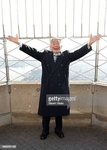 George Takei attend a lighting ceremony at The Empire State Building in honor of World AIDS Day on November 30 2015 in New York City