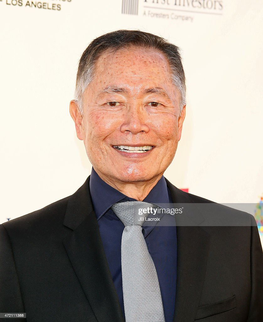<a gi-track='captionPersonalityLinkClicked' href=/galleries/search?phrase=George+Takei&family=editorial&specificpeople=1534988 ng-click='$event.stopPropagation()'>George Takei</a> attends the GMCLA's 4th annual Voice Awards at The Globe Theatre at Universal Studios on May 3, 2015 in Universal City, California.