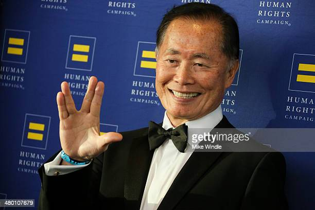 George Takei attends the Human Rights Campaign Los Angeles Gala dinner at JW Marriott Los Angeles at LA LIVE on March 22 2014 in Los Angeles...