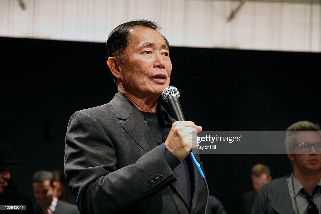 <a gi-track='captionPersonalityLinkClicked' href=/galleries/search?phrase=George+Takei&family=editorial&specificpeople=1534988 ng-click='$event.stopPropagation()'>George Takei</a> speaks during the Trevor's Fall Fete at Theory Flagship Store on October 21, 2010 in New York City.