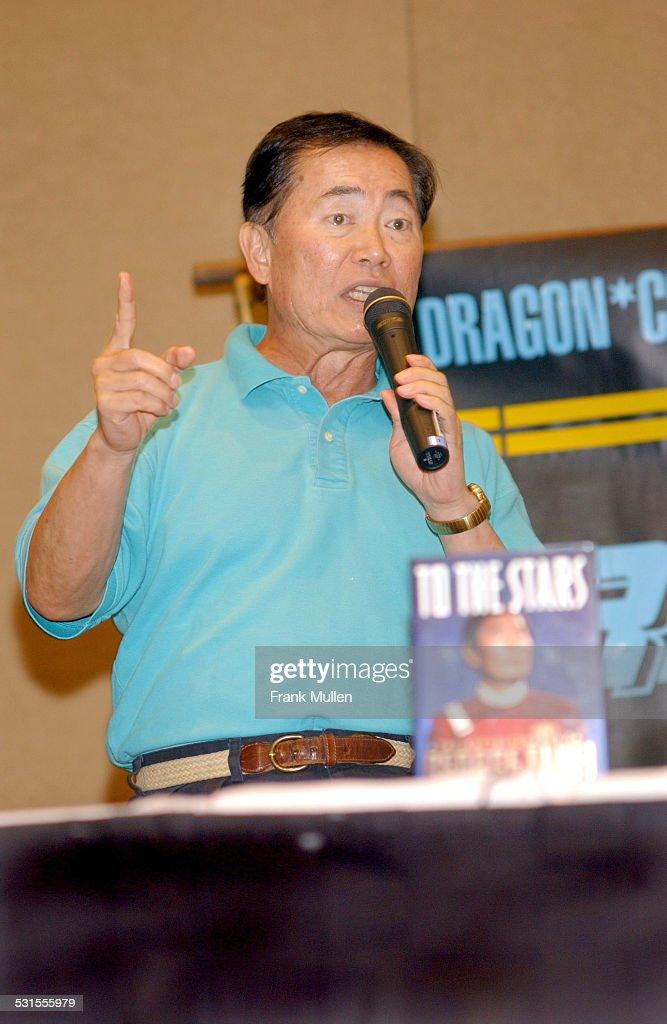 George Takei (Lieutenant Sulu on TV's 'Star Trek') speaks to fans.