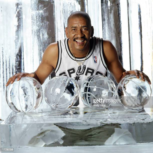 George 'The Ice Man' Gervin of the San Antonio Spurs poses for a portrait in San Antonio Texas in 1996 NOTE TO USER User expressly acknowledges and...