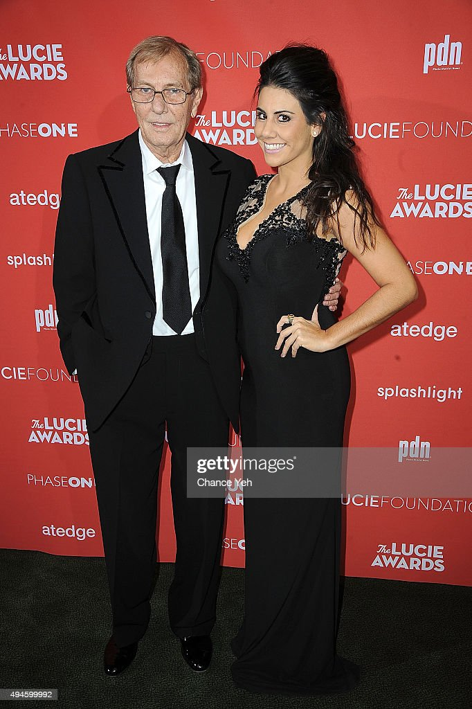 George Tice and Jennifer Mesler attend 13th Annual Lucie Awards at Zankel Hall, Carnegie Hall on October 27, 2015 in New York City.