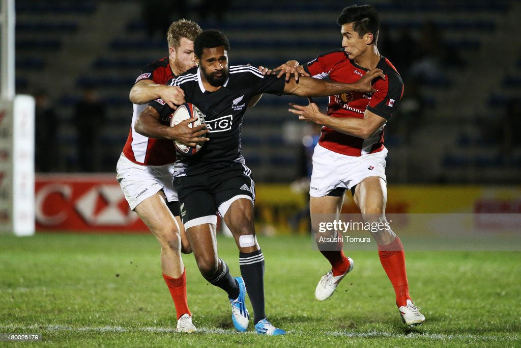George Tilsley of New Zealand in action during the Tokyo Sevens, the six round of the HSBC Sevens World Series at the Prince Chichibu Memorial Ground on March 22, 2014 in Tokyo, Japan.