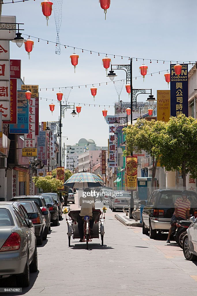 George town chinatown penang malaysia : Stock Photo
