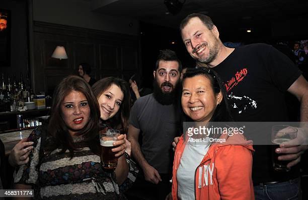 George Troester and guests attend the Season Finale For SyFy Channel's 'Faceoff' Season 7 Viewing Party held at The Parlor on October 28 2014 in West...