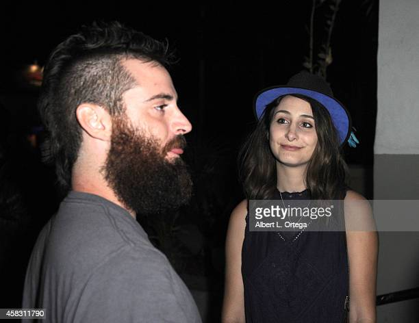 George Troester and Sasha Glasser attend the Season Finale For SyFy Channel's 'Faceoff' Season 7 Viewing Party held at The Parlor on October 28 2014...