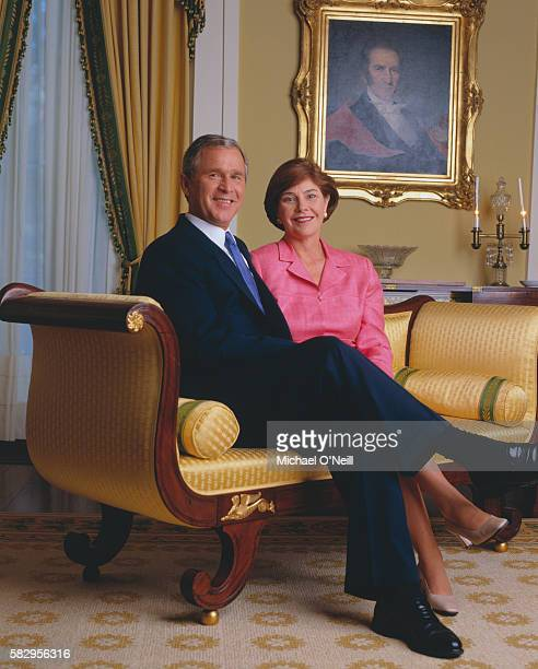 George w and laura bush can