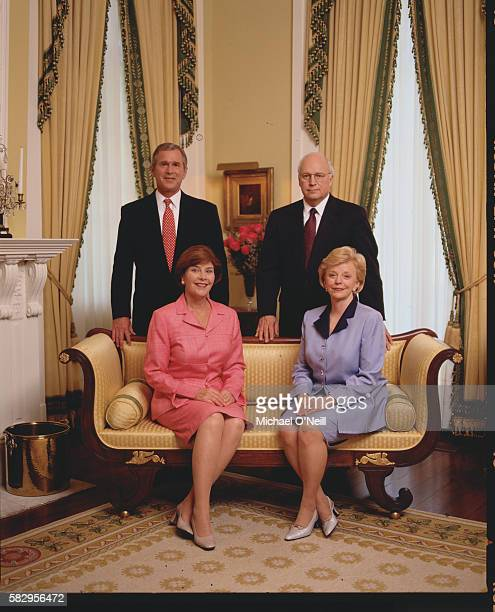 George W and Laura Bush with Dick and Lynne Cheney