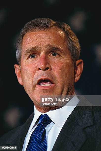 George W Bush attends a presidential campaign rally Bush won the 2000 Presidential Election against Vice President Al Gore after a controversial vote...