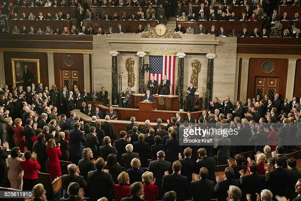 George W Bush Giving State of the Union Address in Washignton DC