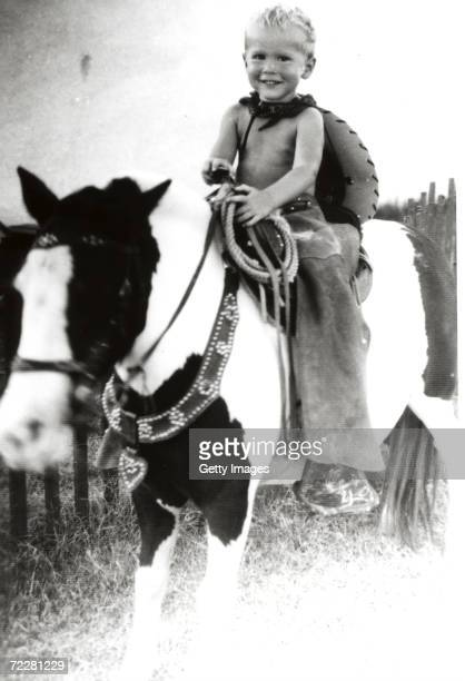 George W Bush sitting on a pony circa 194950 George W Bush is currently campaigning for the Republican party for the presidential election in...