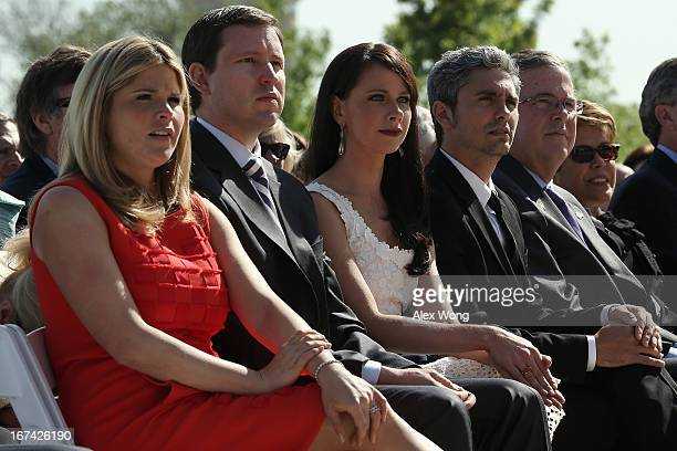 George W Bush's daughter Jenna Bush Hager her husband Henry Hager sister Barbara Bush Miky Fabrega former Governor of Florida Jeb Bush and his wife...