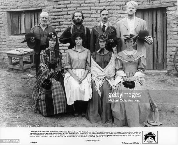 George W Smith Jack Nicholson BJ Merholz Ed Begley Jr Luana Anders Mary Steenburgen Maureen Byrnes Lucy Lee Flippen in a scene from the film 'Goin'...