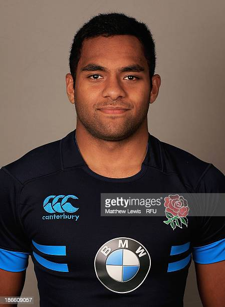 George Wacokecoke of England U18's poses for a portrait during an England Rugby Union U18's Headshot session at Loughborough University on November 1...