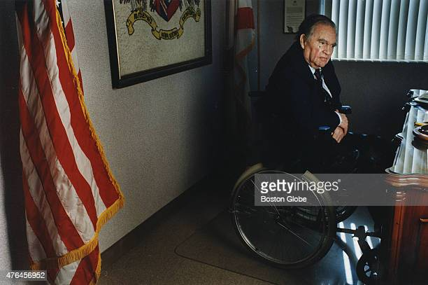 George Wallace the former governor of Alabama at his desk on the fourth floor of Bartlett Hall part of the Troy StateMontgomery campus in Montgomery...