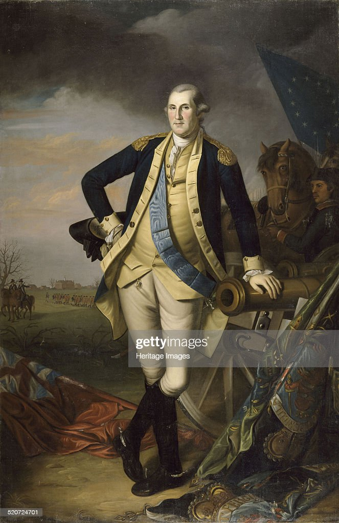 George Washington after the Battle of Princeton on January 3 1777 Found in the collection of Musée de l'Histoire de France Château de Versailles