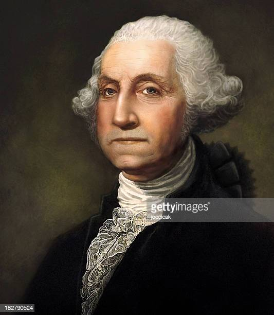 George Washington generada digitalmente retrato