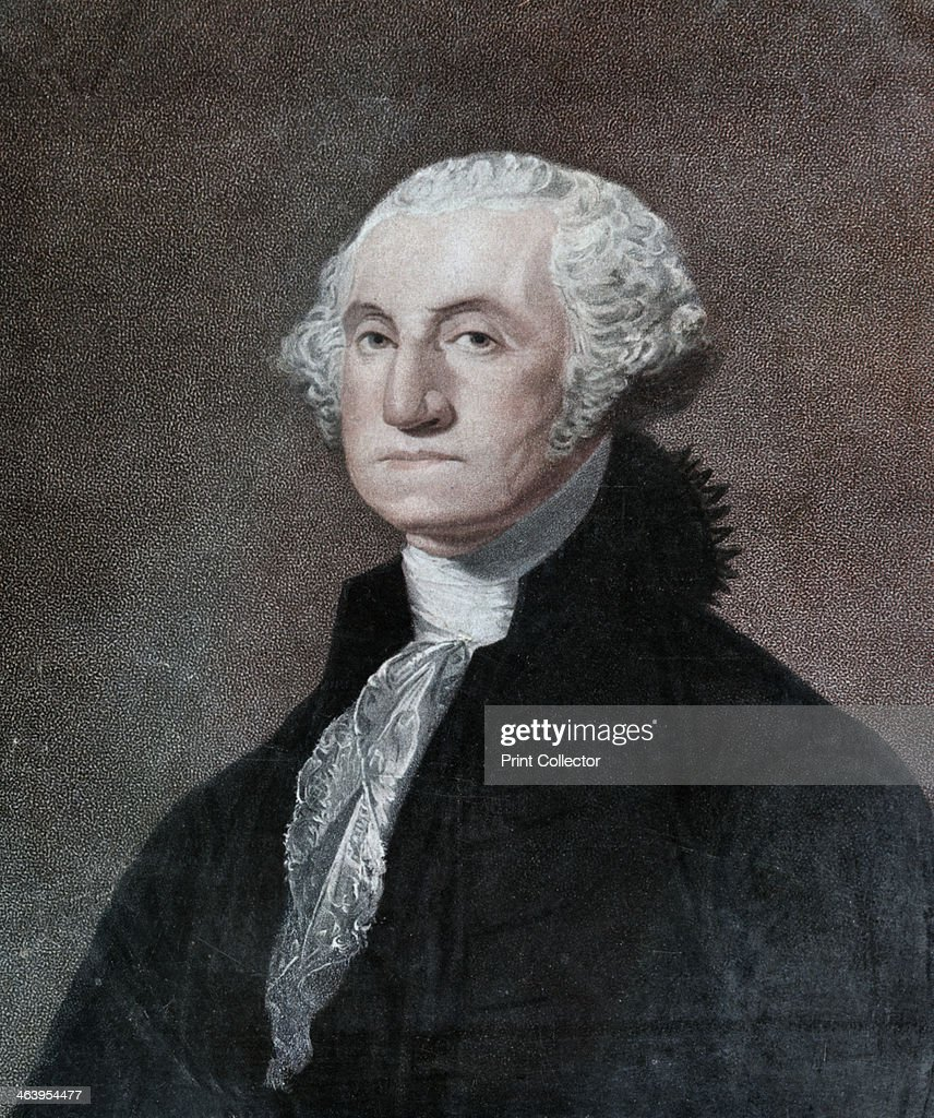 George Washington first President of the United States c1798 After commanding the American Revolutionary army to victory over the British in the...