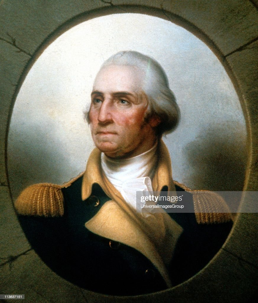 George Washington first President of US 17891797 Portrait by Rembrandt Peale