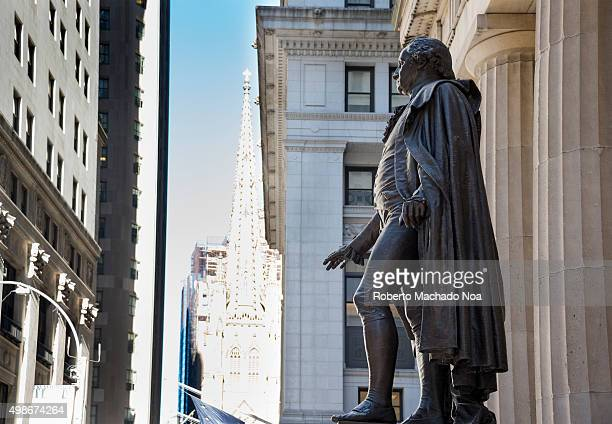 George Washington statue at Federal Hall National Memorial in New York city USA George Washington was the first President of the United States...
