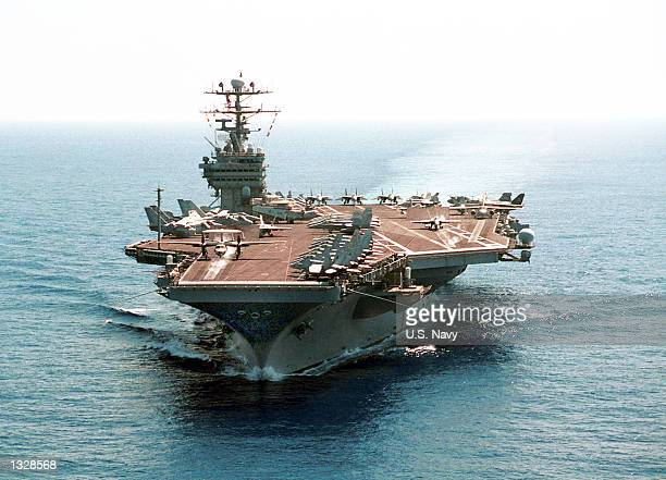 USS George Washington travels across the Atlantic Ocean on her way to a scheduled sixmonth Mediterranean Sea and Arabian Gulf deployment June 29 2001...