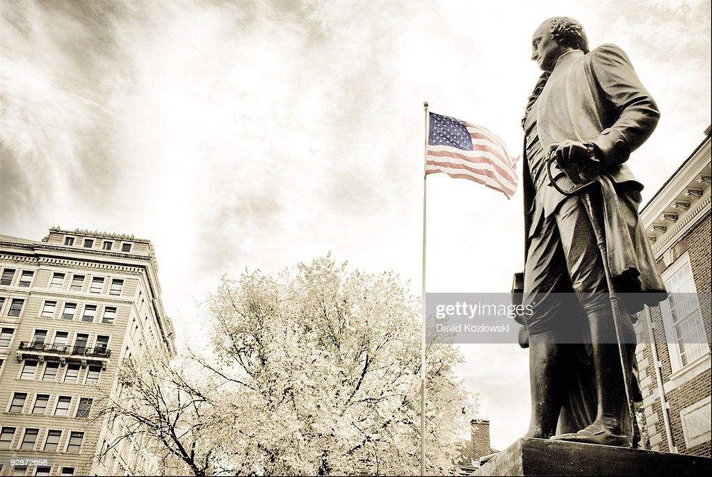 George Washington with Flag