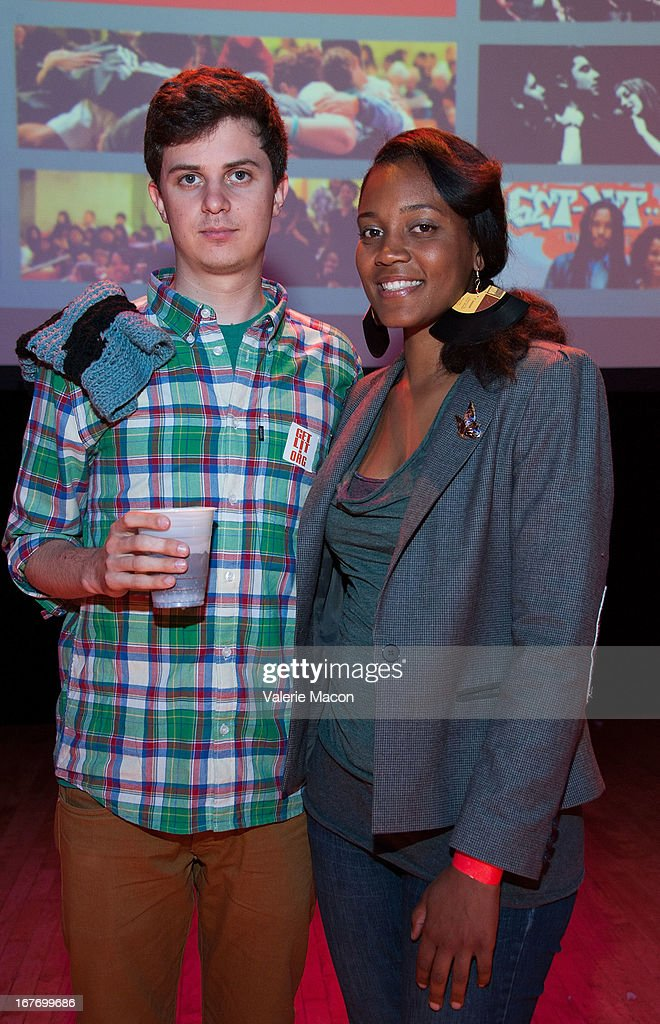 George Watsky and Chinaka Hodge attend Get Lit Presents The 2nd Annual Classic Slam at Orpheum Theatre on April 27, 2013 in Los Angeles, California.