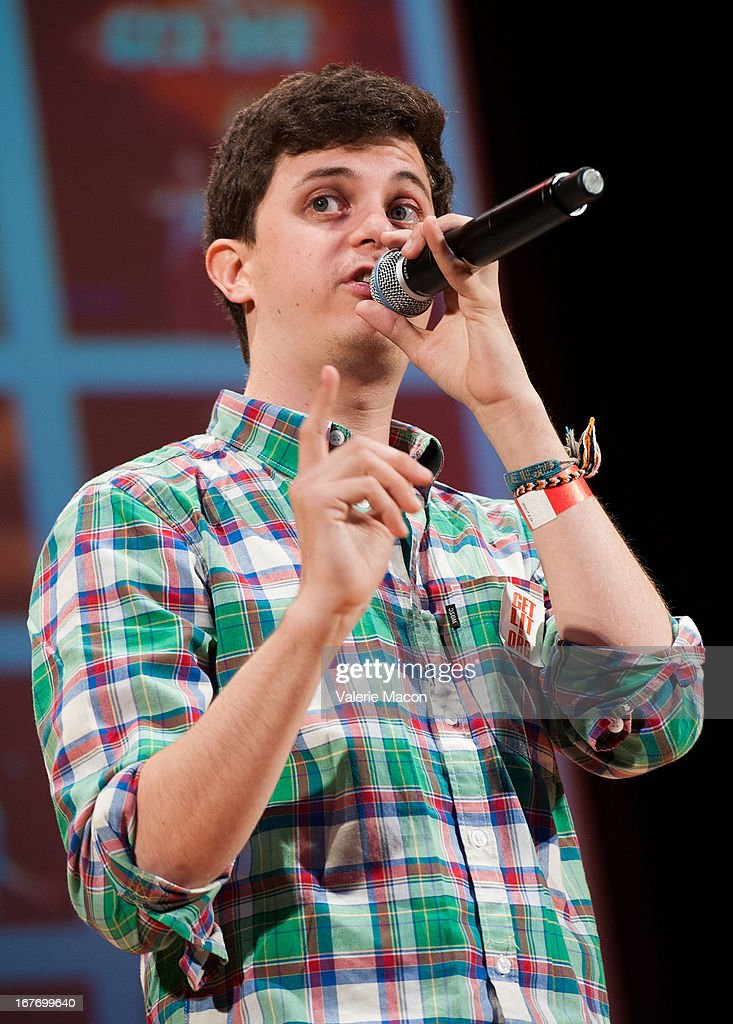 George Watsky attends Get Lit Presents The 2nd Annual Classic Slam at Orpheum Theatre on April 27, 2013 in Los Angeles, California.