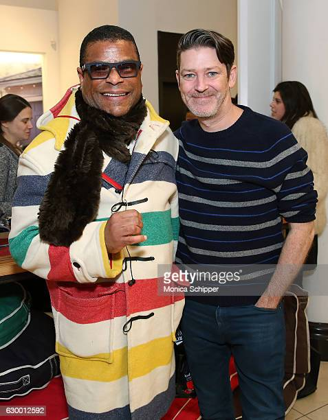 George Wayne and Eddie Roche attend the Daily Front Row Lands' End Holiday Celebration on December 15 2016 in New York City