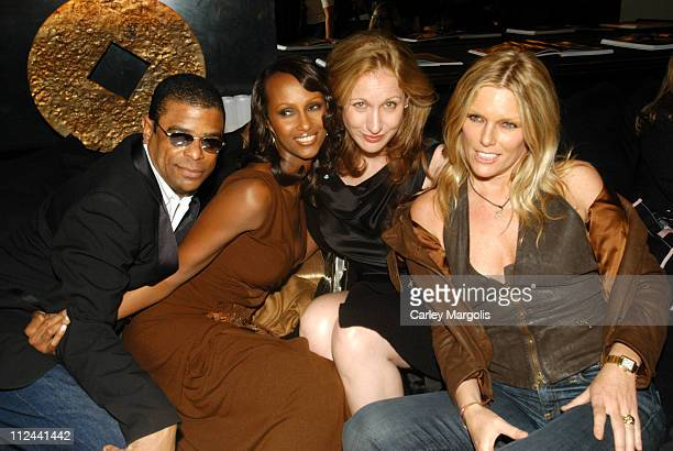 George Wayne contributing editor of Vanity Fair Iman Amy Sacco and Patti Hansen