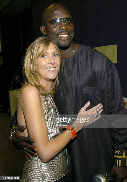 George Weah and guest during 2004 ESPY Awards Backstage and Audience at Kodak Theatre in Hollywood California United States