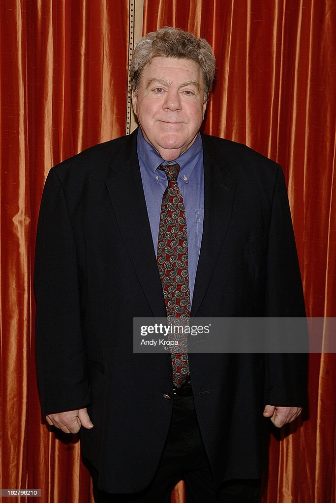 <a gi-track='captionPersonalityLinkClicked' href=/galleries/search?phrase=George+Wendt&family=editorial&specificpeople=234559 ng-click='$event.stopPropagation()'>George Wendt</a> attends the 'Breakfast At Tiffany's' Press Preview at Cafe Carlyle on February 27, 2013 in New York City.