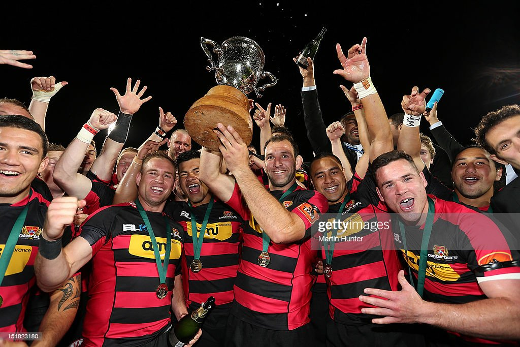 <a gi-track='captionPersonalityLinkClicked' href=/galleries/search?phrase=George+Whitelock&family=editorial&specificpeople=4532140 ng-click='$event.stopPropagation()'>George Whitelock</a> (C) holds aloft theITM Cup with his team mates after the ITM Cup final match between Canterbury and Auckland at AMI Stadium on October 27, 2012 in Christchurch, New Zealand.